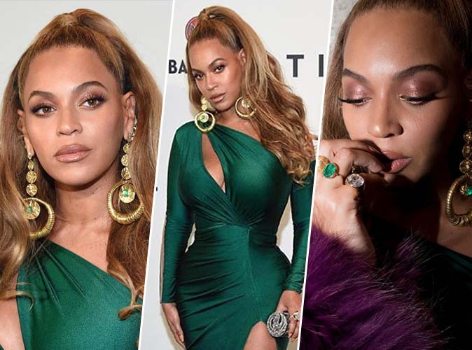 Beyoncé : maquillage nude, regard irisé et cils xxl... Who slay ?