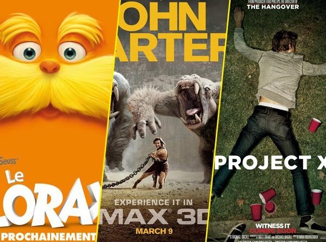 Box Office Us : Le Lorax tient tête au beau John Carter !