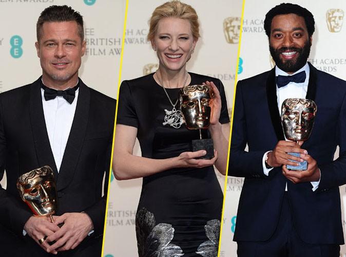 Brad Pitt, Cate Blanchett, Chiwetel Ejiofor, Jennifer Lawrence... Découvrez le fabuleux palmarès des BAFTAs 2014 !