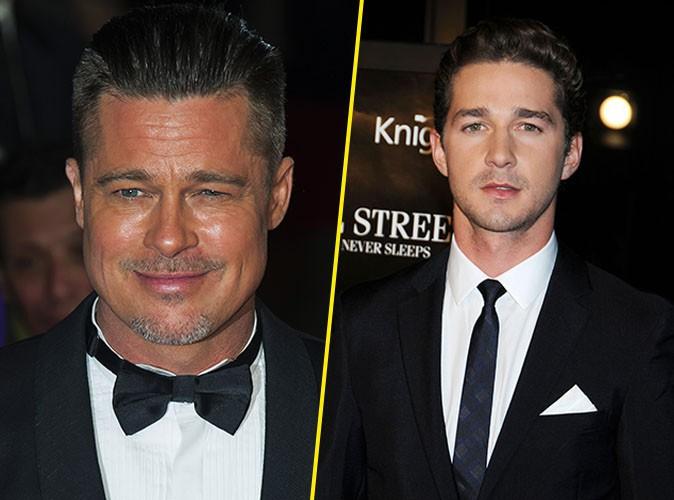 Brad Pitt : il est complètement fan de Shia LaBeouf !