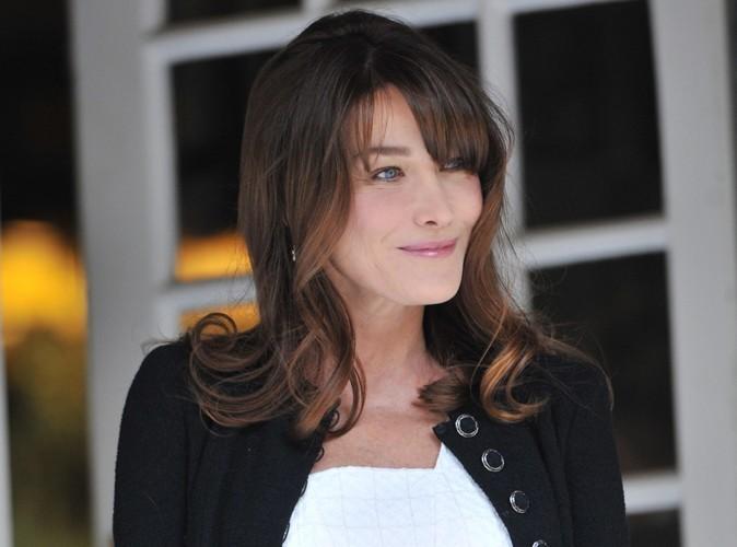 Carla Bruni : elle a passé le week-end à l'Elysée !