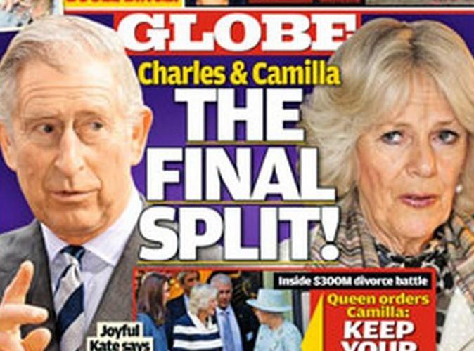 Charles et Camilla : leur divorce annoncé par un tabloïd anglais !