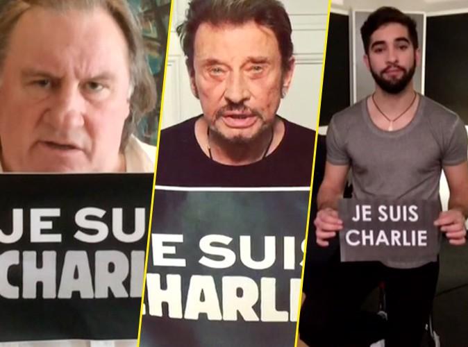 Charlie Hebdo : Gérard Depardieu, Johnny Hallyday, Kendji : tous mobilisés et unis, tous Charlie !