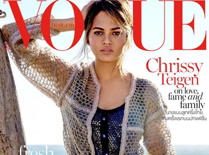 Chrissy Teigen : sublime en Une de Vogue Thaïlande elle dévoile le sexe de son bébé !