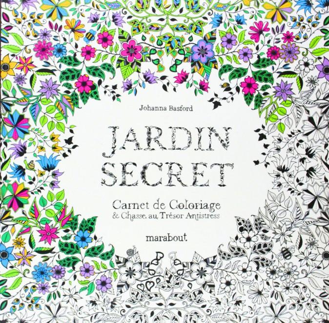 Jardin secret, Carnet de coloriage & Chasse au trésor antistress, Johanna Basford, Marabout. 12,90 €.