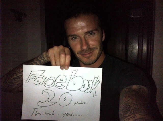 David Beckham : 20 millions de fans Facebook, ça se fête !