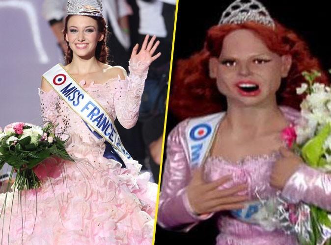 Delphine Wespiser : Miss France 2012 fière de sa marionnette aux Guignols de l'Info !