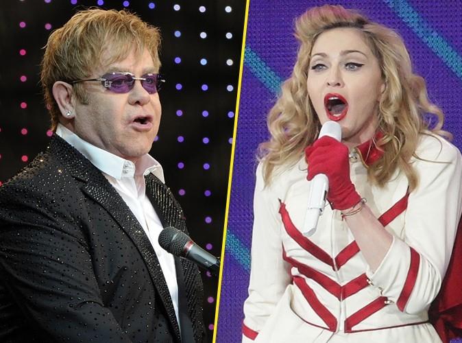"""Elton John : """"Madonna ressemble à une strip-teaseuse de fête foraine !"""""""