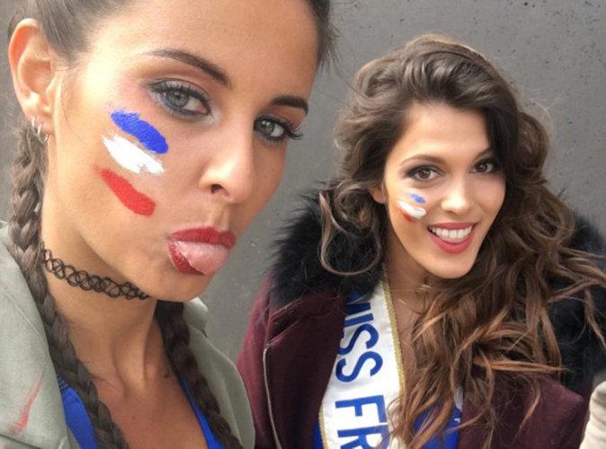 Euro 2016 : Iris Mittenaere et Malika Ménard plus sexy que jamais pour soutenir les Bleus !