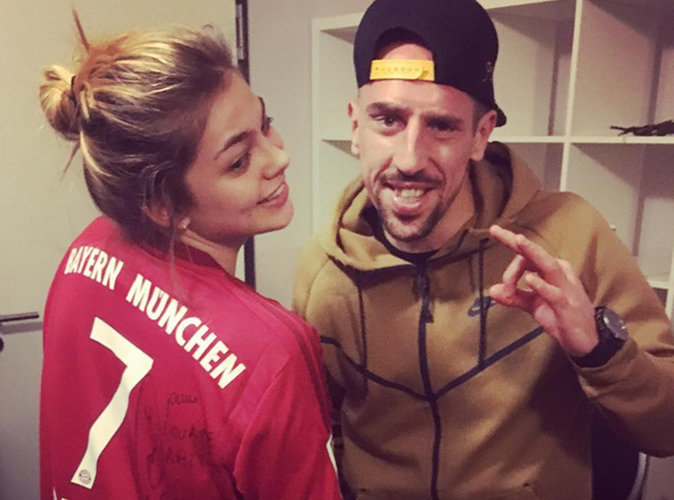 Franck Ribéry fan number one de... Louane !