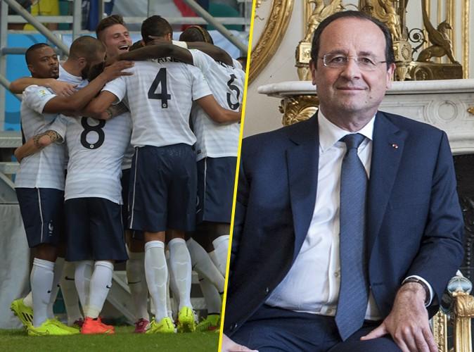 """François Hollande : fier des Bleus, il évoque leur """"excellente prestation"""" au Mondial 2014 !"""