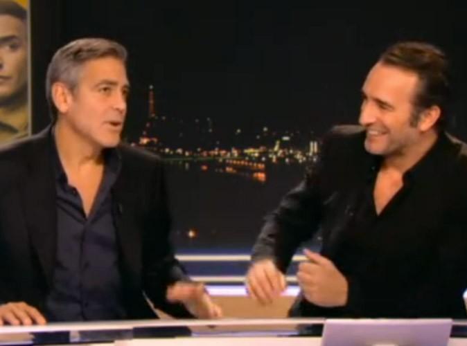 """George Clooney : """"J'entraîne Jean Dujardin à devenir l'homme le plus sexy du monde"""" !"""