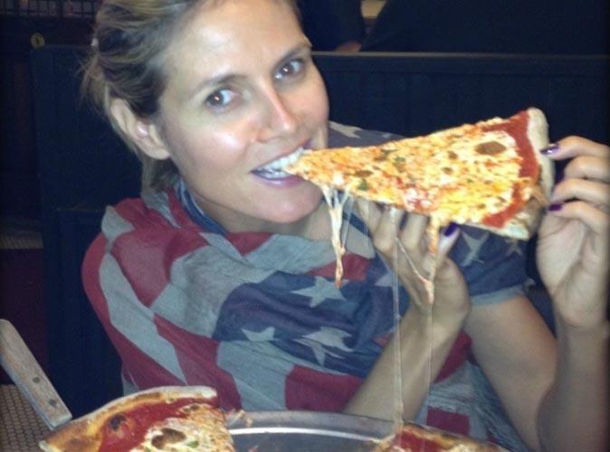 Heidi Klum : après les burgers, elle s'attaque aux pizzas !