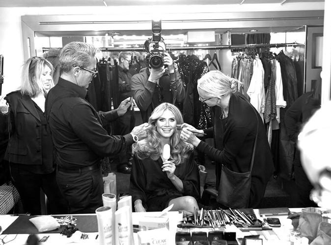 Heidi Klum : très gourmande sur la préparation d'une séance photo !