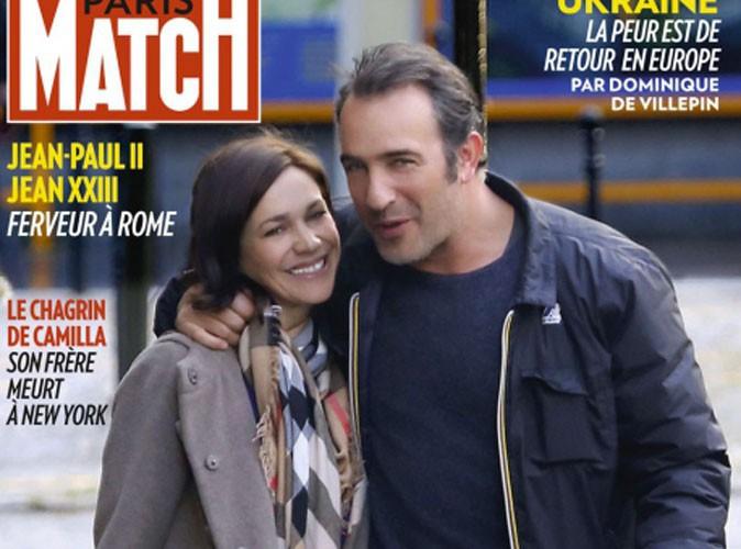 Jean dujardin l acteur officialise son couple avec for Nathalie pechalat et jean dujardin