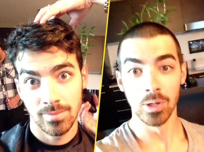"""Joe Jonas avec le crâne rasé : """"oops"""""""