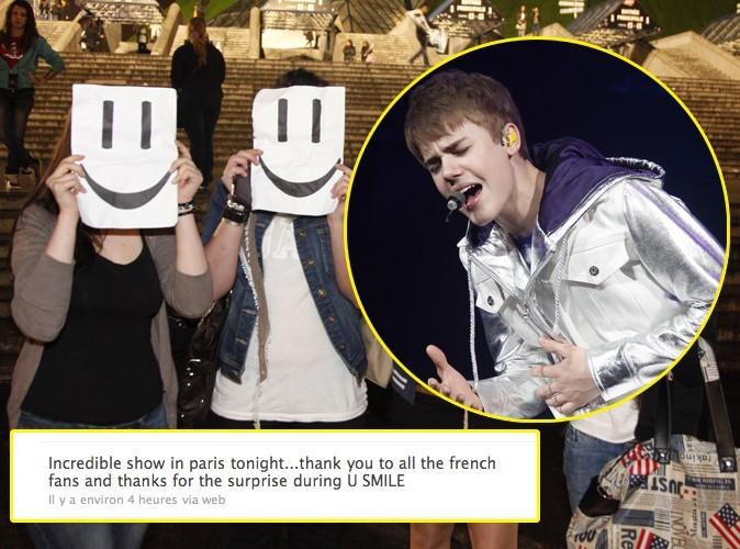 Justin Bieber : son concert vécu sur Twitter !