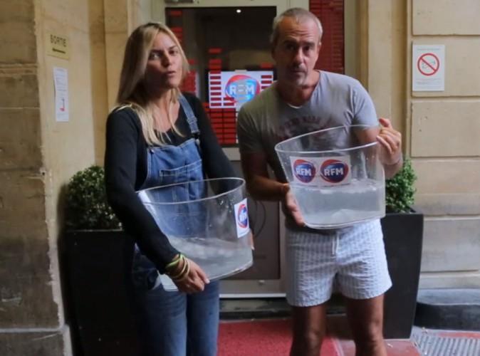Justine Fraioli et Bruno Roblès : les deux animateurs d'RFM relèvent à leur tour le défi ALS Ice Bucket Challenge !