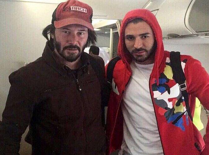 Karim Benzema : absent de l'Euro, il pose avec Keanu Reeves pour se consoler !