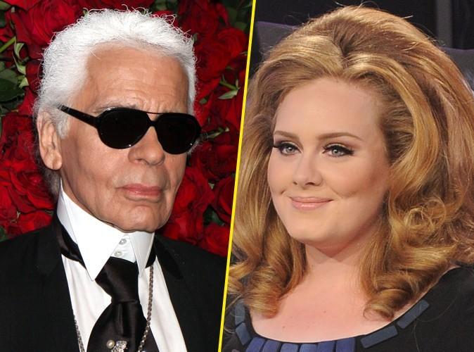 """Karl Lagerfeld : """"Adele ? Elle est un peu trop grosse mais a une voix divine."""""""