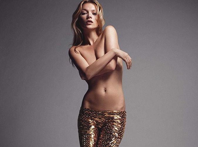 Kate Moss : topless et scintillante pour la bonne cause !