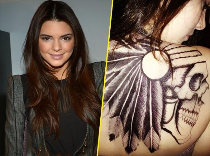 Kendall Jenner : elle se fait tatouer un squelette indien sur le dos !