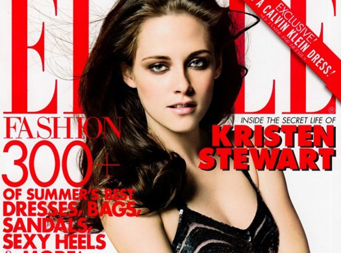 """Kristen Stewart : fatale en couverture du Elle américain, elle jure comme un charretier et décrit Robert Pattinson comme son """"putain de boyfriend """"!"""