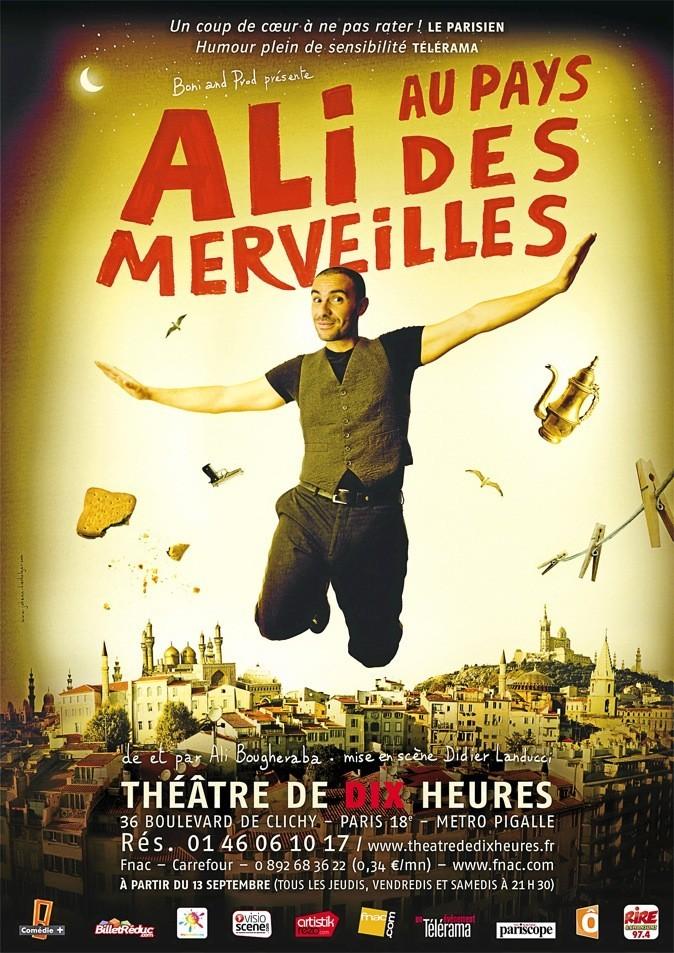 Ali au pays des merveilles, au Théâtre de Dix Heures. Loc. : 01 46 06 10 17.