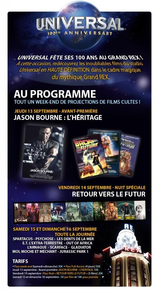 Nuit spéciale Retour vers le futur au Grand Rex pour les 100 ans d'Universal!