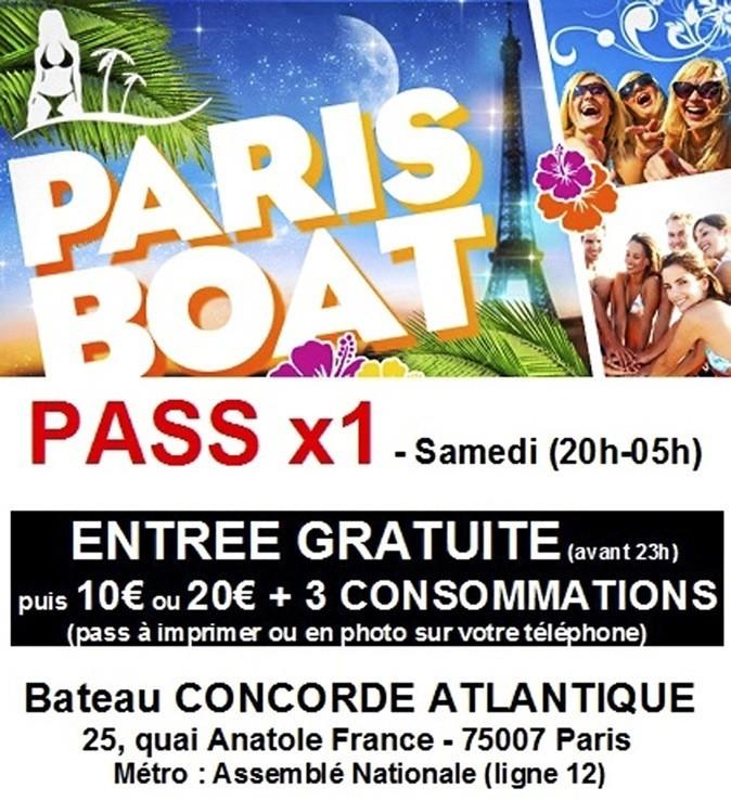 20 €. Paris Boat Party Summer, 23 quai Anatole-France, Paris 7e.