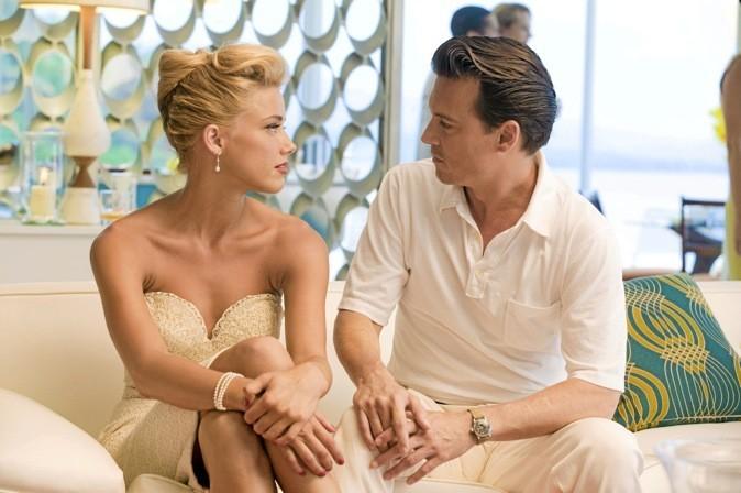 "Scène du film ""Rhum Express"" avec Amber Heard et Johnny Depp !"