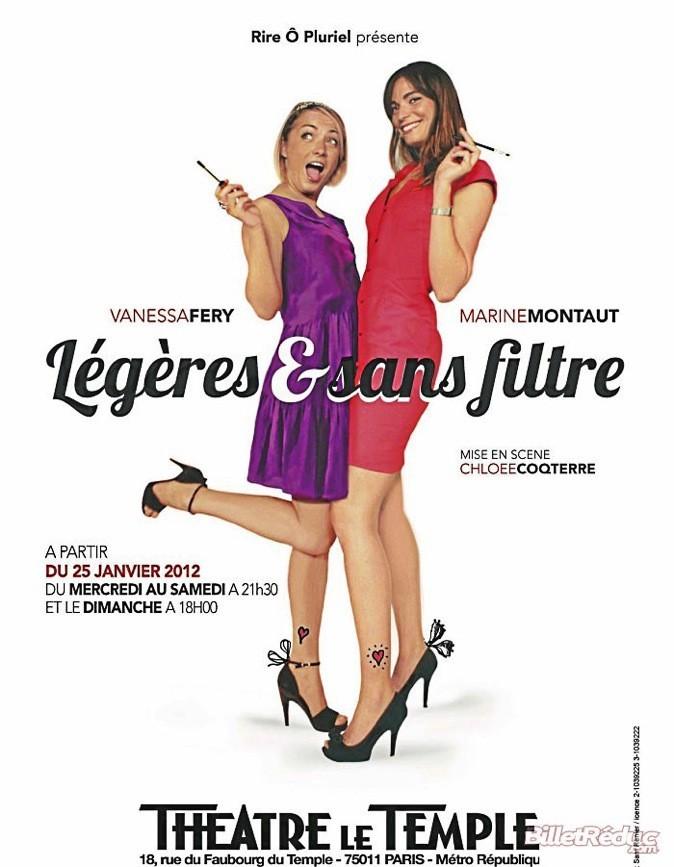 """L'affiche du spectacle """"Légères et sans filtre"""""""