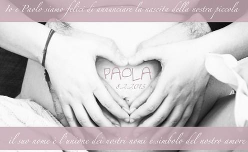 Une bien belle façon d'annoncer la naissance de Paola!