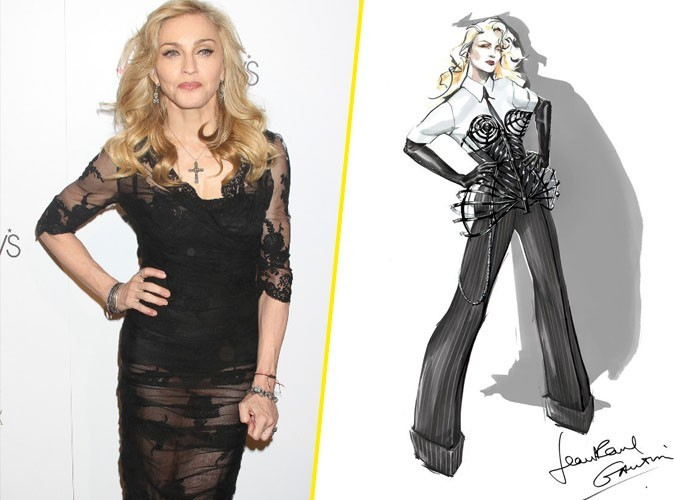 Madonna : Jean Paul Gaultier dévoile l'un de ses costumes de scène et revisite son fameux corset !