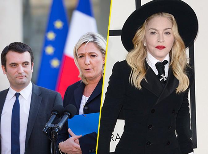 """Madonna : le porte-parole du Front National lui répond et la tacle : """"Mamy Gaga est à la ramasse !"""""""