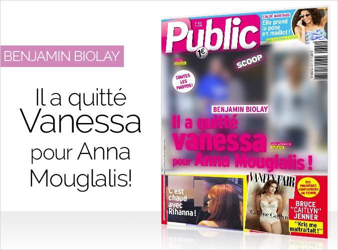 Magazine Public : Exclu photos : Benjamin Biolay en couverture... Il a quitté Vanessa pour Anna Mouglalis !
