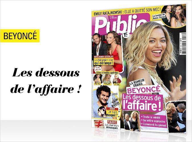 Magazine Public : Beyoncé et Barack Obama : les dessous de l'affaire en couverture !