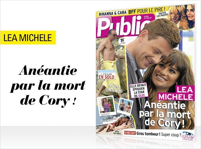 Magazine Public : Cory Monteith et Lea Michele en couv !