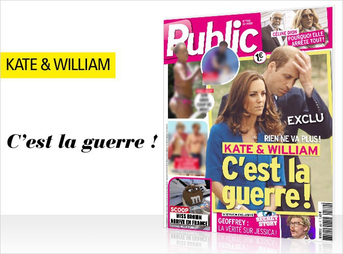 Magazine Public : en couverture, Kate et William se font la guerre… Rien ne va plus !