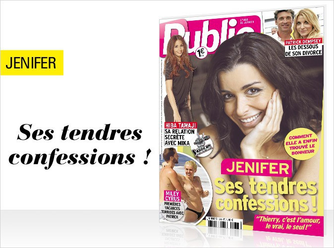 """Magazine Public : Jenifer en couverture... Ses tendres confessions : """"Thierry, c'est l'amour, le vrai, le seul !"""""""