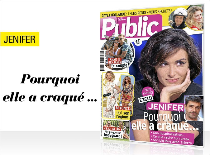 Magazine Public : Jenifer : la vérité sur son craquage en couverture !