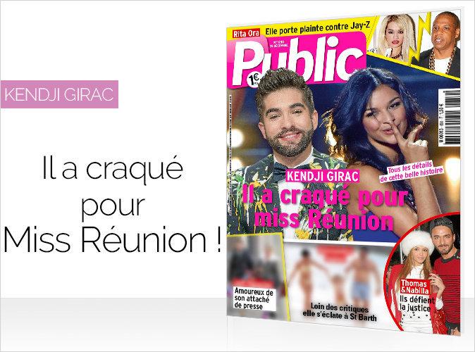 Magazine Public : Kendji Girac en couverture, il a craqué sur Miss Réunion !