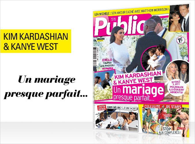magazine public kim kardashian et kanye west les dessous du mariage people de l 39 ann e en. Black Bedroom Furniture Sets. Home Design Ideas