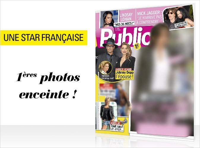Magazine Public : les premières photos du baby bump d'une star française en couverture !