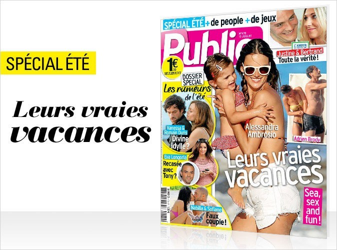 Magazine Public : les vraies vacances des stars en couv !