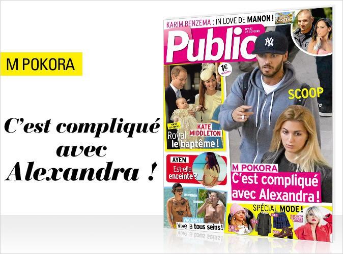 Magazine Public : Matt Pokora en couverture : c'est compliqué avec Alexandra !