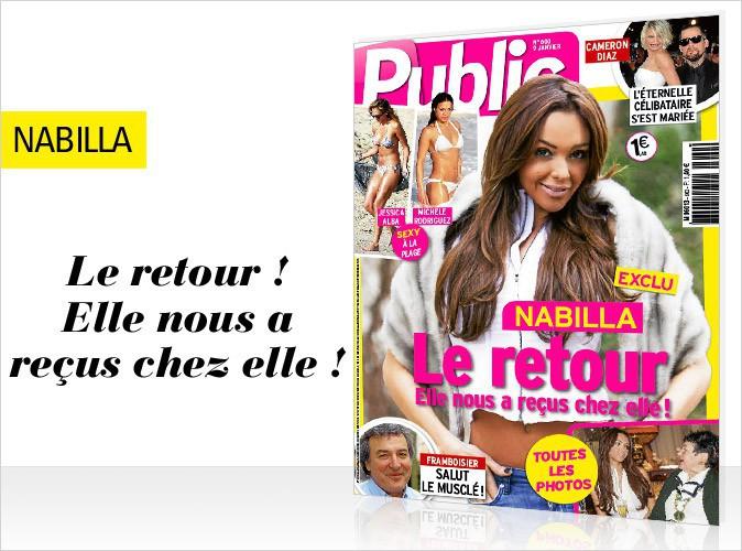 Magazine Public : Nabilla Benattia en couverture... SCOOP : Elle nous a reçus chez mémé ! Photos exclu !