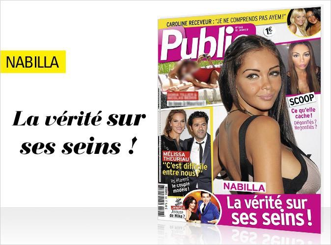 Magazine Public : Nabilla : la vérité sur ses seins en couverture !