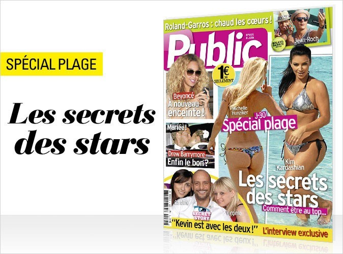 Magazine Public : spécial plage : les secrets des stars en couv !