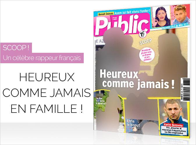 Magazine Public : Un célèbre rappeur français... heureux comme jamais !